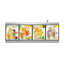 Handing aluminum frame programmable led fast food restaurant black light menu board