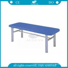 Tableaux médicaux de divan d'examen de patient d'acier inoxydable de plateforme plate d'AG-ECC05 à vendre