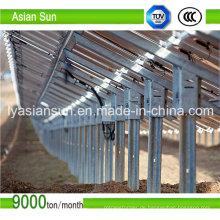 Solar Strahlführung des Stromnetzes