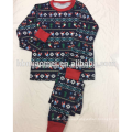 Printed cotton christmas pajamas 2016 in factory price