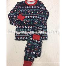 Печатные хлопок пижамы Рождество 2016 в заводской цене
