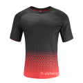 T-shirt Dry Fit Soccer Wear Homme Rouge