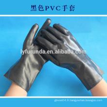 Gants en caoutchouc industriel, gant de travail pvc, doublé doux, finition lisse