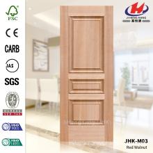 JHK-M03 Mass Manufacture Expensive Embossed MDF Red Walnut Veneer Door Skin Good Sell In Africa