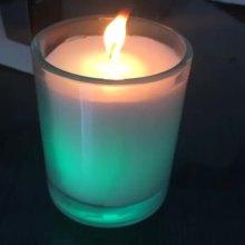 Luxus Geburtstag und Weihnachten Kunst Glas Tasse Kerze