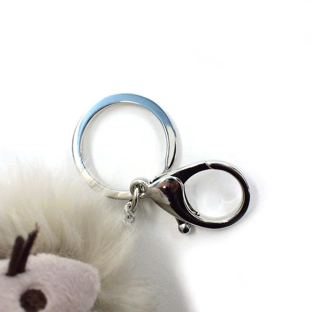 Plush Cat Pom Poof Key Chain 4