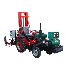 100 m depth 700mm diameter positive cycle tractor mounted soil  drilling rig
