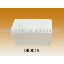 Molho de soja de porcelana branca quadrado atacado direto da fábrica