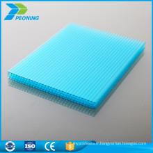 Les types offerts en usine du prix de la feuille de serre en polycarbonate à double paroi de 4 mm
