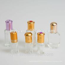 Rouleau de verre octogonal 3ml 6ml 12ml sur des bouteilles