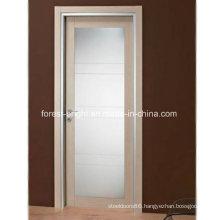 Modern Wood French Door with Glass, Glass Swing Door