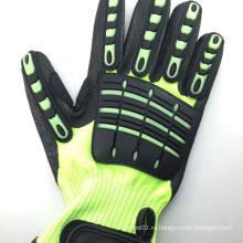 SRSAFETY 2016 новый стиль industrila работает с защитными перчатками для мужчин, черные перчатки TPR