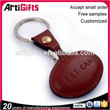 Art et artisanat en métal rond porte-clés en cuir
