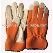 Orange Color Glove-Pig Leather Glove-Working Glove-Garden Glove