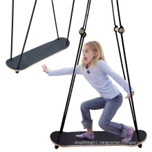 Wooden Stand Up Surfing Skateboard Swing