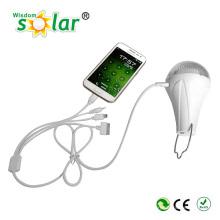 Luz de led portátil Mini iluminação Kit Solar, solar com carregador, luzes de emergência carregador solar plástica
