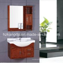 Gabinete de banheiro de madeira maciça / vaidade de banheiro de madeira maciça (KD-442)