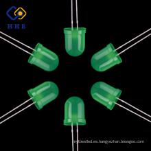 Diodos electroluminosos redondos de alta calidad del diodo LED del diodo LED redondo verde de 10m m
