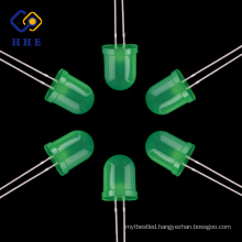 Top quality Green 10mm Round Diffused Led Diode LED Bulb Light emitting diodes