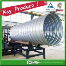 Galvanized steel corrugated culvert pipe making machine
