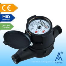 Contador certificado Multi Jet mediados del agua IP68 tipo seco