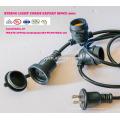 Éclairage extérieur résistant aux intempéries - Homologué UL - 15 douilles à suspendre - Éclairage de patio parfait - Noir - 16 11S14 UL