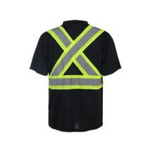 T-shirts de sécurité des matériaux haute performance, T-shirts réfléchissants normaux CSA Z96-09
