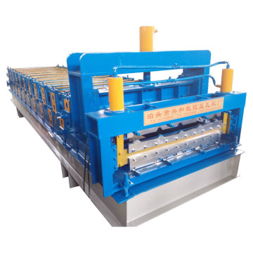 Máquina de moldagem de rolo de aço de camada dupla para construção de edifícios