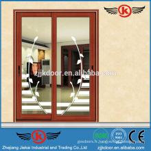 JK-AW9101 porte en aluminium décoratif / porte coulissante en verre