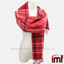 Кашемир шерстяной шарф красный шарф тартана плед
