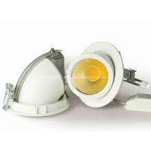 Nouveau réglable 90 degrés 15W 20W Round Gimbal COB LED Downlight