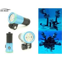 6400mah Lithium-Batterie Taucher Tauchen wasserdichte Taschenlampe