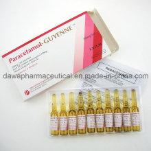 Injection de traitement de la fièvre élevée 300mg / 2ml Injection de paracétamol
