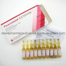 Injeção do Paracetamol da injeção 300mg / 2ml da injeção do tratamento da febre alta