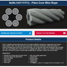 6x36 связывают (14/7+7/7/1) - волокна сердечника веревочки провода