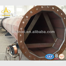 Poste eléctrico de acero galvanizado de 10M