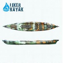Plastik kein aufblasbarer Kajak für Fischen einzelner Person mit kundenspezifischem weichem Sitz