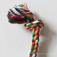 Corda para limpeza de dentes de algodão de brinquedo popular para cachorro