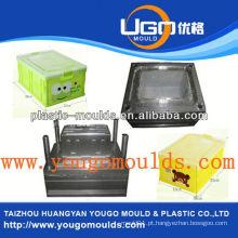 2013 Novos moldes de recipientes de frutas plásticas para uso doméstico e bom preço do molde de caixa de ferramentas de injeção
