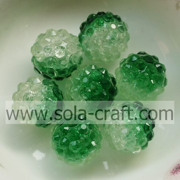 Artificial Semi-colored Crackle Berry Rhinestone Beads for Ornament Jewelry, Necklace and Bracelet