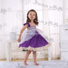 wholesale baby clothes ruffle purple princess dresses