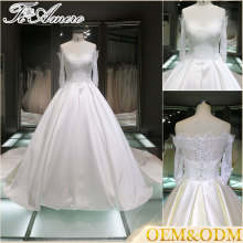 2017 Polyester tulle custom a line bridal lace wedding dress