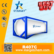 High purity Refrigerant R407c best buy in Iso tank for A/C refrigeration cooling