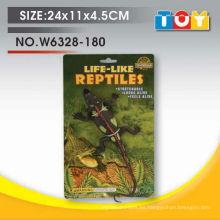 Diseño de modelo de cocodrilo de animal de plástico suave con todo el informe de prueba