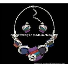 Ensemble de collier de bijoux en pierre Fashion Square (XJW13219)