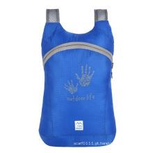 Saco de mochila de nylon impermeável de pouco peso dobrável (yky7298)