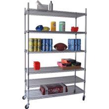 DIY Heavy Duty Chrome Adjustable Book Display Wire Shelf (CJ12045180A6W)