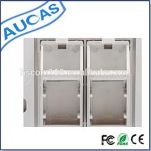 2 / Dual Port modulare Jack Face Platte / RJ45 Keystone Jack Face Plate / Quad 2 RJ45 Wand Gesicht Platte