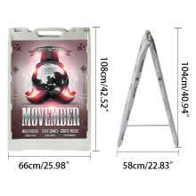 Hot Selling Poster Stand Double Side Advertising Water Injection Portable  Poster Stand Display