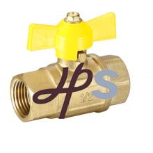 robinet à tournant sphérique en laiton avec poignée papillon, norme EN331